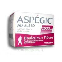 Aspegic Adultes 1000 Mg, Poudre Pour Solution Buvable En Sachet-dose 20 à Vierzon