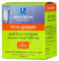 Acetylcysteine Biogaran Conseil 200 Mg Pdr Sol Buv En Sachet B/20 à Vierzon