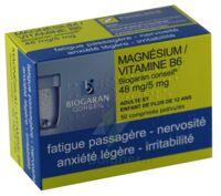 MAGNESIUM/VITAMINE B6 BIOGARAN CONSEIL 48 mg/5 mg, comprimé pelliculé à Vierzon