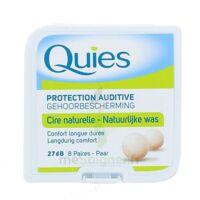 QUIES PROTECTION AUDITIVE CIRE NATURELLE 8 PAIRES à Vierzon