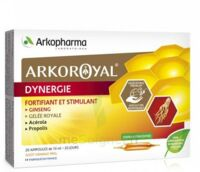 Arkoroyal Dynergie Ginseng Gelée royale Propolis Solution buvable 20 Ampoules/10ml à Vierzon