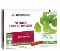 Arkofluide Bio Ultraextract Solution buvable mémoire concentration 20 Ampoules/10ml à Vierzon