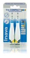 Inava Brossettes Tri Compact étroit  012 Noir 0,6mm/ Bleu 0,8mm/ Jaune 1mm à Vierzon