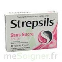STREPSILS FRAISE SANS SUCRE, pastille édulcorée à l'isomalt, au maltitol et à la saccharine sodique à Vierzon