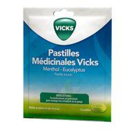 PASTILLES MEDICINALES VICKS Past à sucer menthol eucalyptus Sach/18 à Vierzon