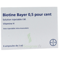 BIOTINE BAYER 0,5 POUR CENT, solution injectable I.M. à Vierzon