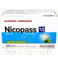 Nicopass 1,5 Mg Pastille Sans Sucre Menthe Fraîcheur Plq/96 à Vierzon