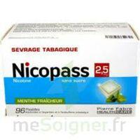 Nicopass 2,5 Mg Pastille Menthe Fraîcheur Sans Sucre Plq/96 à Vierzon
