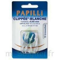 PAPILLI - CLIPPEE, blanc, sachet 10 à Vierzon