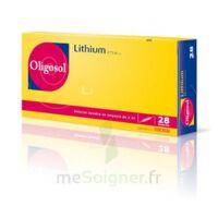 Oligosol Lithium Solution buvable en ampoule ou en récipient unidose 28Amp/2ml à Vierzon