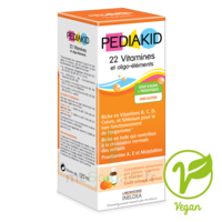 Pédiakid 22 Vitamines et Oligo-Eléments Sirop abricot orange 125ml à Vierzon