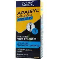 Apaisyl Anti-poux Xpress 15' Lotion Antipoux Et Lente 200ml+peigne à Vierzon