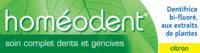 Boiron Homéodent Soin Complet Dents Et Gencives Pâte Dentifrice Citron 2t/75ml à Vierzon