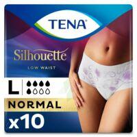 Tena Lady Silhouette Slip Absorbant Blanc Normal Large Paquet/10 à Vierzon